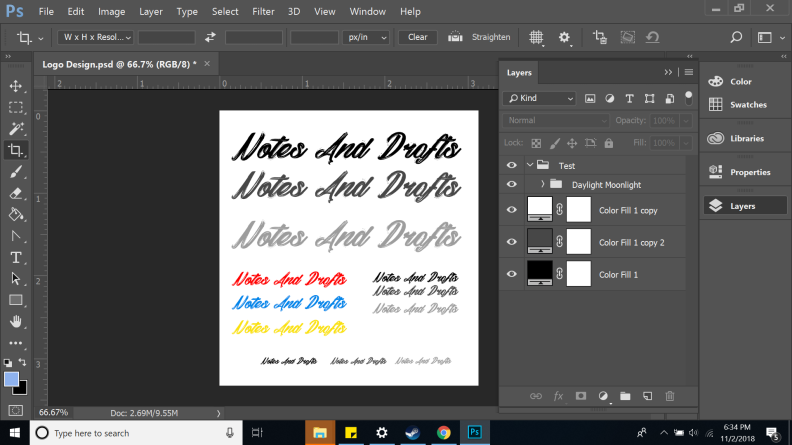 Setting up Photoshop For Font Selection